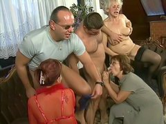 Busty mature orgy