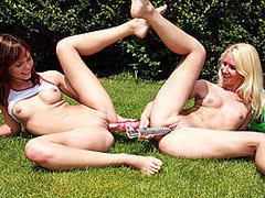 Lesbian teens in the garden