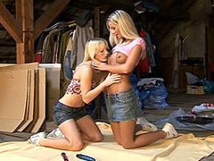 Lesbian teens in the attic