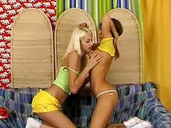 Lesbian strap on fun
