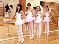 Teenage ballet girls