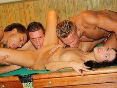 Gangbang in billiards