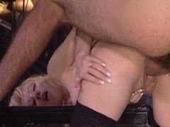 stockinged blonde