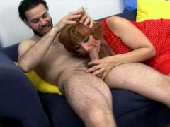 Redhead mature mommy and her young daughter