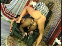 Barbara&Patrick awesome anal pantyhose movie