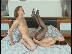 Sophia&Mike cool anal pantyhose action