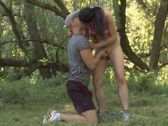 Simona was expecting a nice bit of sexy fun in the woods, but she never expected hardcore anal sex